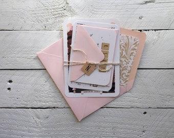 Romantic Whimsical Floral, Bride and Groom Illustration, Custom Wedding Invitation Suite, Wedding Stationery Deposit