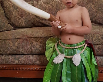 Maui Inspired Cosplay Leaf Skirt for Kids