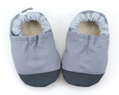 gray baby shoes gray booties toddler shoes vegan shoes with rubber toe gray soft sole shoes rubber soles gray moccs baby boy shoes gray
