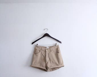 Basic Tan Denim 90s Shorts