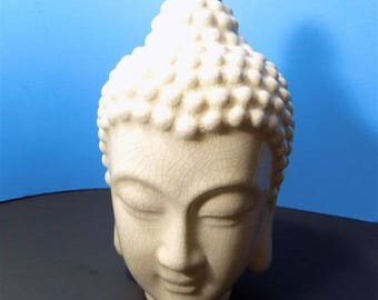 NEW Rare Large Ceramic Buddha Face Bust Head Sculptures Figurines Asian Oriental Gift Home Decor