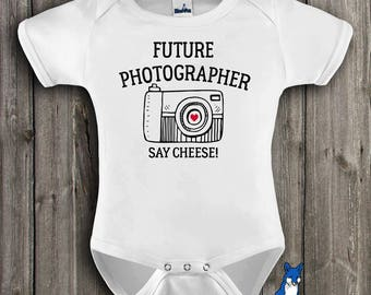 Future Photographer baby clothes,baby bodysuit,photographer baby gift,Camera baby clothes,Photographer gift,baby bodysuit,GBS112