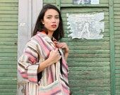 SALE-Mid Season  Free size jacket Kimono style  with pocket and 3/4 sleeve