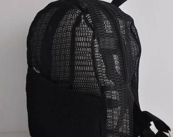Bee Black Backpack