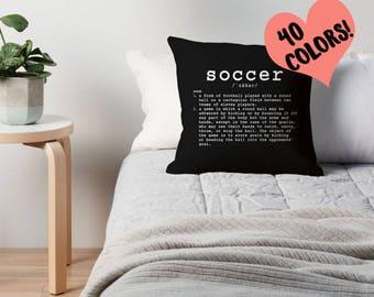 Soccer Quotes, Sports Pillows, Soccer Pillows, Soccer Quotes, Soccer Decor, Sports Theme Decor, Soccer Theme, Boys Room Decor, Soccer