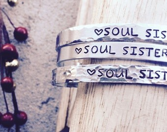 Soul Sisters, Birthday Gifts For Sisters, Sisters Bracelets, Best Friend Bracelets, Holiday Gifts For Best Friends, BFFs, Friendship Cuffs
