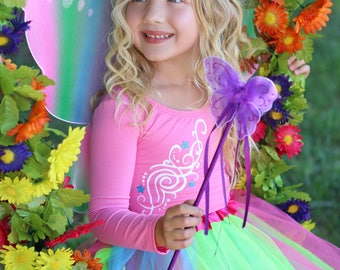 Girls Rainbow Fairy Costume , Toddler Fairy Costume , Girls Fairy Halloween Costume , Baby Fairy Costumes , Toddler Costumes, Pixie Costume