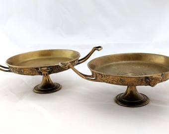 Pair of Neoclassical gilt bronze tazzas