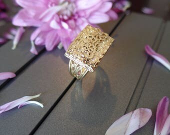 Filigree ring GOLD Filled handmade jewelry, lace gold ring, gifts for women 14k gold ring womens jewelry
