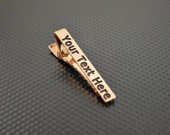 Copper Tie Bar, Copper Tie Clip, Copper Wedding, Groomsmen Gift, Personalized Tie Bar, Custom Tie Bar, Tie clip, Copper Gift,Custom Tie Clip