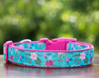 Floral Dog Collar  / Tropical Dog Collar / Dog Collars Australia / XS-XL