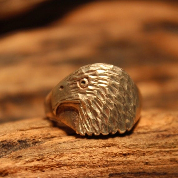 Vintage Mens Silver Eagle Ring Native American Size 13 Mens Eagle Head Sterling Silver Ring 8.2grams  Signed Stamped Silver Eagle Mens Ring