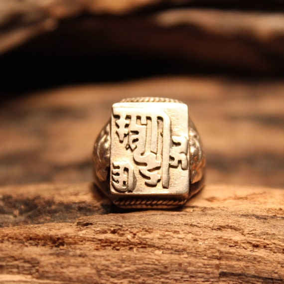 Mens Ring Vintage Mens Rings Silver Vintage Ring Size 7.25 Sterling Silver Mens Ring 5.6 Grams Mens large Silver Ring SilverTribal Mens Ring