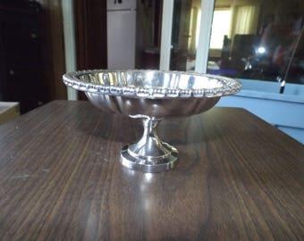 Antique Silver, Silver Compote, Silver Pedestal Dish, Vintage Oneida Silverplate, Pedestal Bowl, Wedding, Silver Serving Dish, Art Nouveau