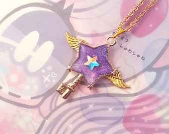 Purple Star Key Necklace