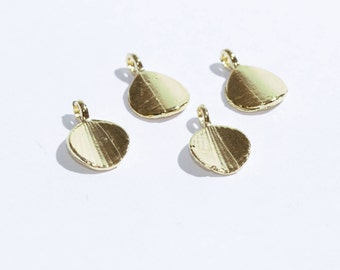 Gold Plated Shell Charms,Shell Connector Bead, Gold Plated Supplies,Mini Shell  Charms,Shell  Connector SKU/A149