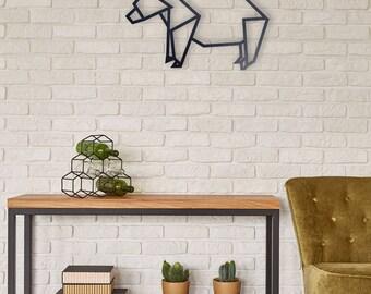 bear, Geometric animal, Origami animal,Metal Wall Art, Home Decor, Gift Idea, Wall Decor, Metal Sign, Wall art
