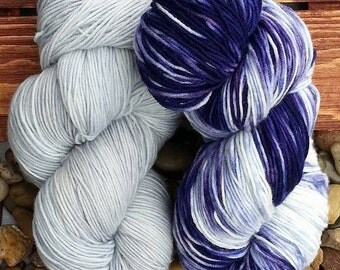wool - hand - dyed sock yarn - hand dyed
