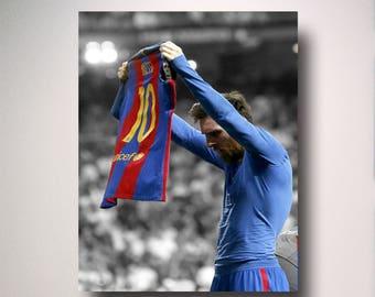 NEW! Lionel messi poster ( el classico )  11x17 PACK OF 2