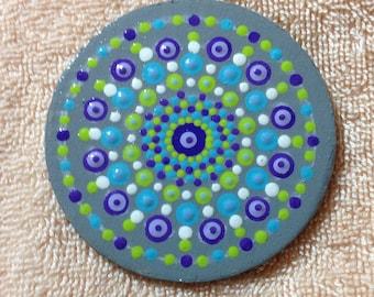 Concentric Circle Mandala Magnet