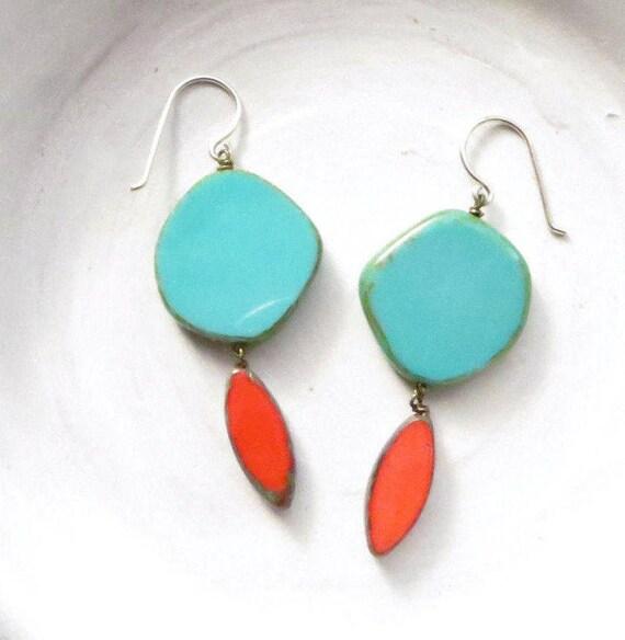 Hue Earrings > Turquoise