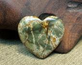 15% off sale Irish Lion ~ Striking Multicolored Gold Green Khaki Tan Picasso Jasper Heart