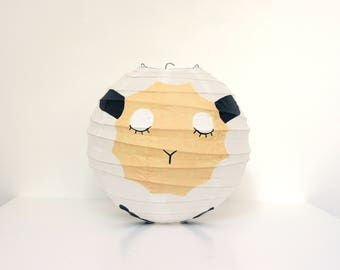 White Sheep Japanese Paper Lampshade