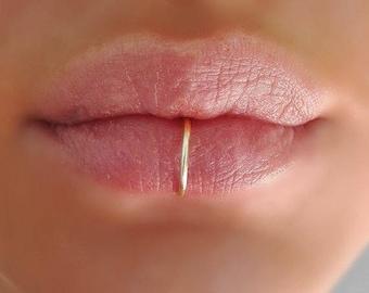 Fake lip ring etsy - Lippenpiercing ring ...