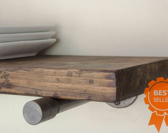 Floating Shelves | Industrial Floating Shelves | Wood Shelf | Rustic Floating Shelves | Bestseller | Farmhouse Shelf | Kitchen Shelves