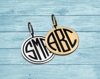 Monogram Tag, Personalized Monogram Tag, Monogram Keychain, Custom Monogram, Custom Tag, Engraved Tag, Personalized Tag, Monogram Keyring