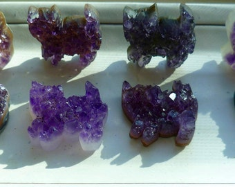 Amethyst Crystal Cat Druzy Cat Decoration