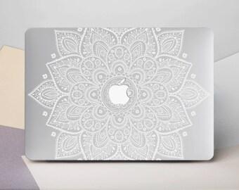 Macbook Air Hard Case Macbook Air 13 Hard Case Mandala Macbook Hard Case Macbook Pro 13 Case White Mandala Macbook Pro Hard Case CG2002