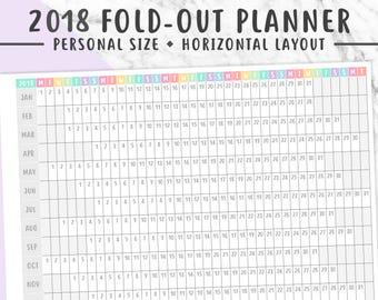 2018 VERTICAL PLANNER PRINTABLE Folding Planner 2018 Year
