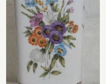 Store Wide Sale Square Vase with 4 different floral patterns