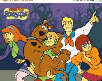Scooby Doo Cross Stitch Pattern Pdf point de croix, embroidery, needlework - 248 x 198 stitches - INSTANT Download - B1044
