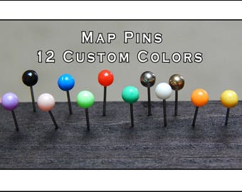 Map Push Pins.  Buy Three and Get One FREE.  Choose Your Colors
