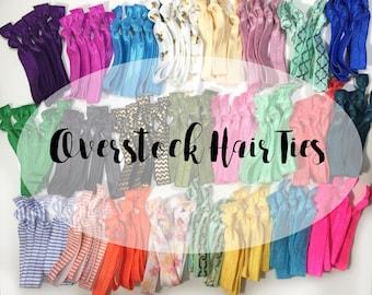 Overstock Clearance Sale - Elastic Hair Ties - Hair Ties - On Sale - Bulk Hair Ties - Ponytail Holders - Elastic Hair Bands - Sale Hair Ties