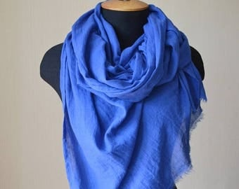 christmas in july Wife birthday gift|for|her blue scarf summer scarf cotton scarf fashion scarf gift mom long scarf womens scarves sister gi