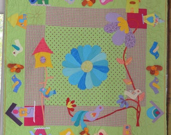 """Wall quilt for child's room """"My secret side"""""""