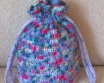 Crochet Clutch 'Rocky Sea' (medium plus size)