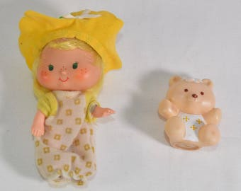 Butter Cookie with Jelly Bear complete vintage Strawberry Shortcake doll Kenner 1981