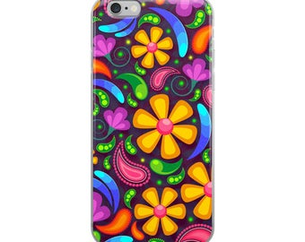 Colourful flower pattern iPhone Case iPhone 6 Plus/6s Plus iPhone 6/6s iPhone 7 Plus/8 Plus iPhone 7/8 iPhone X case cover