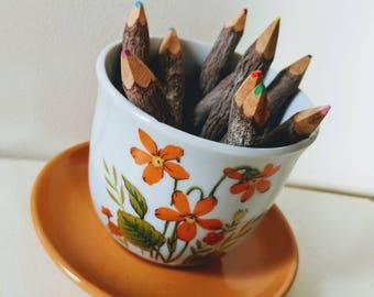 Vintage Planter Ceramic // Flower Pot // Ceramic Pot // Cat Grass Planter //