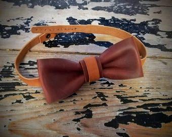 Noeud papillon 100% cuir véritable, a boucle, fait main, mariage costume dandy chic ceremonie