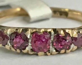 Victorian ruby ring 18k gold