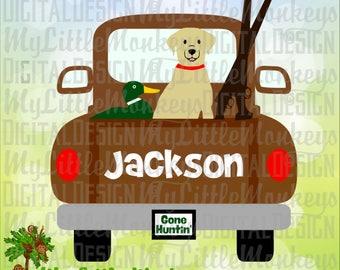 Truck SVG ~ Hunting Svg ~ Duck Hunting ~ Pickup Truck SVG ~ Gone Hunting svg ~ Kids svg ~ Commercial Use SVG ~ Cut File, Clipart dxf-eps-png