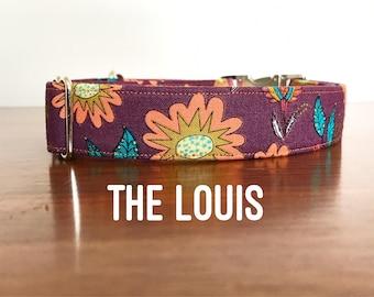 Dog Collar, Dog Collars, Floral Dog Collar, Vintage Inspired, Vintage Floral, Burgundy Dog Collar, Girly, Girl Dog Collar, Girl Collar