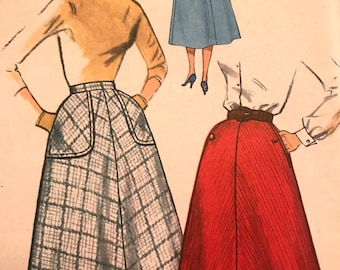 Vintage Four-Gore Flared Skirt Pattern---Simplicity 2270---Size 26  Hip 36