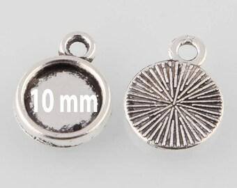 5 blank pendant tray (pr 10mm)