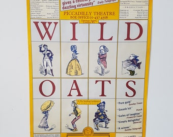 Wild Oats Original Theater Poster Royal Shakespeare company